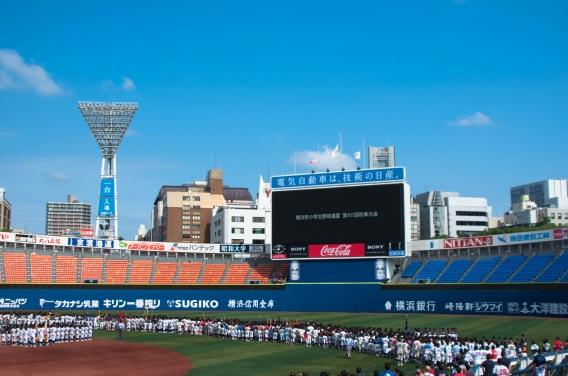 第107回YBBL秋季大会開会式@横浜スタジアム